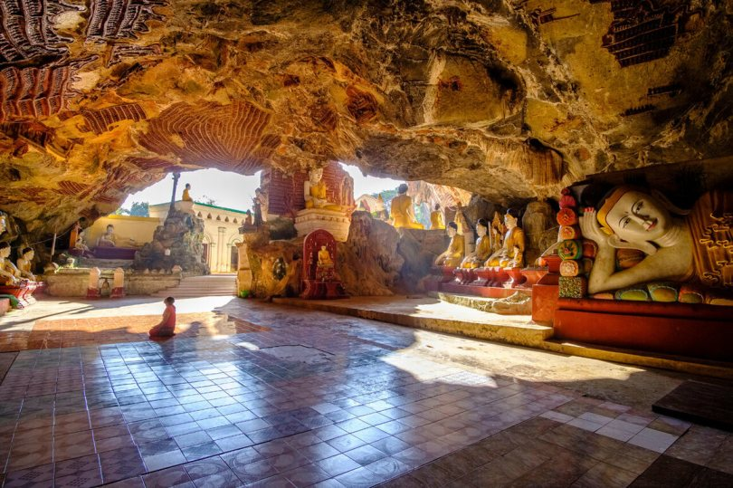 The cave has been a draw for pilgrims and tourists alike.