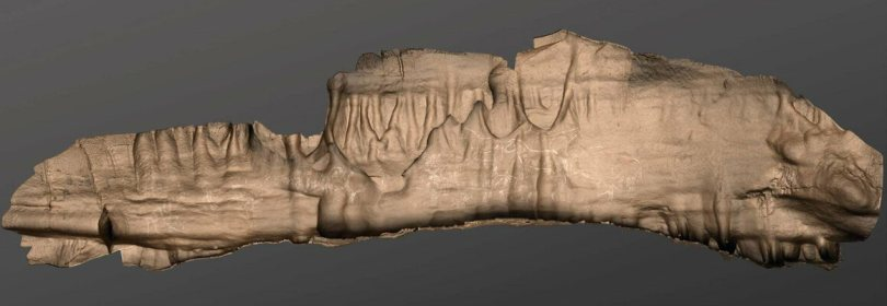 A work in progress as researchers continue to learn more about the artwork, this digital rendering shows some of the engraved figures carved at the Ledge of Horses.