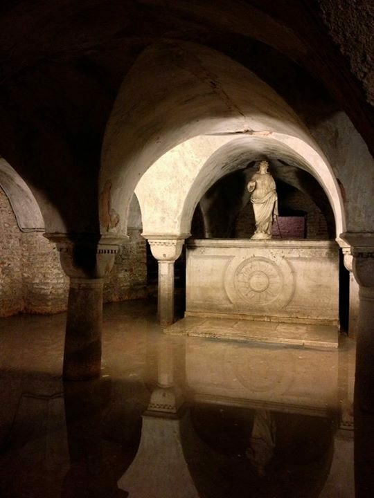 The Flooded Crypt of San Zaccaria  Venice Italy  Atlas