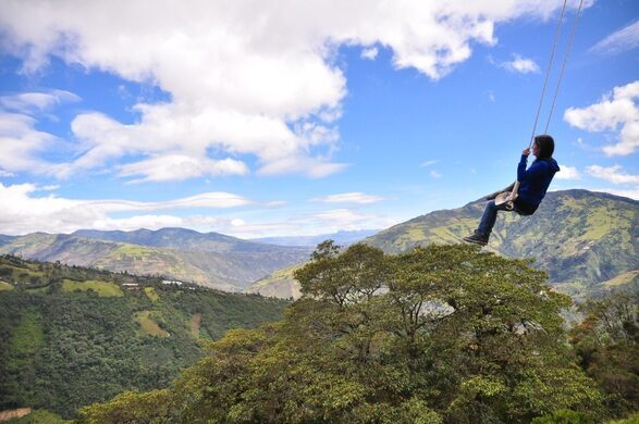 swing chair over canyon used lift chairs for sale at the end of world banos ecuador atlas obscura view all photos