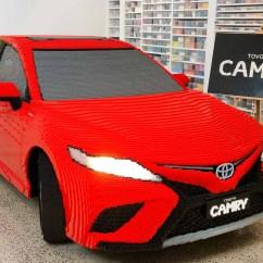 All New Camry Logo Grand Avanza Vs Mitsubishi Xpander Toyota Built A Full Sized Lego Replica Of Its 2018