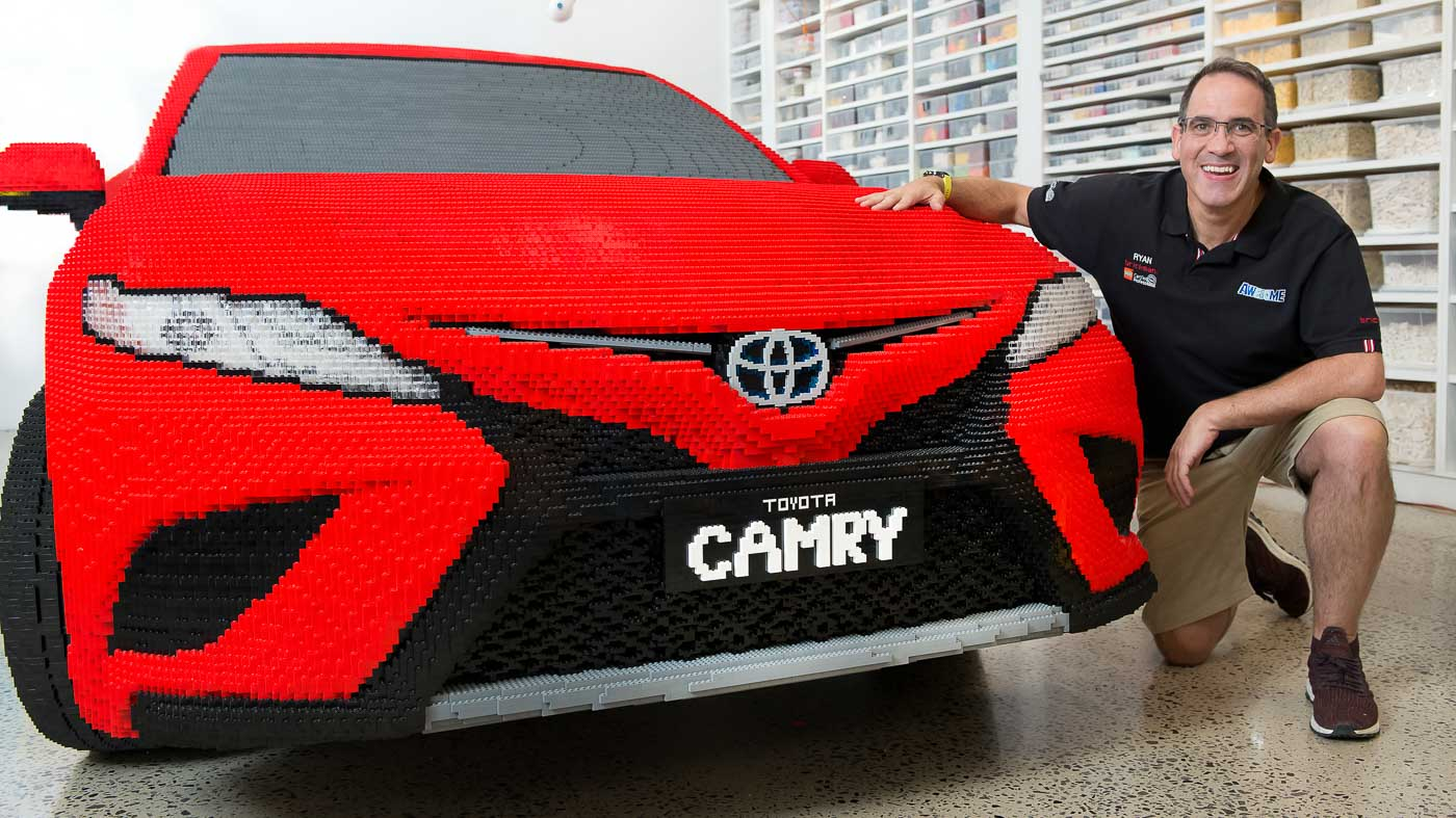 all new camry logo ground clearance kijang innova toyota built a full sized lego replica of its 2018