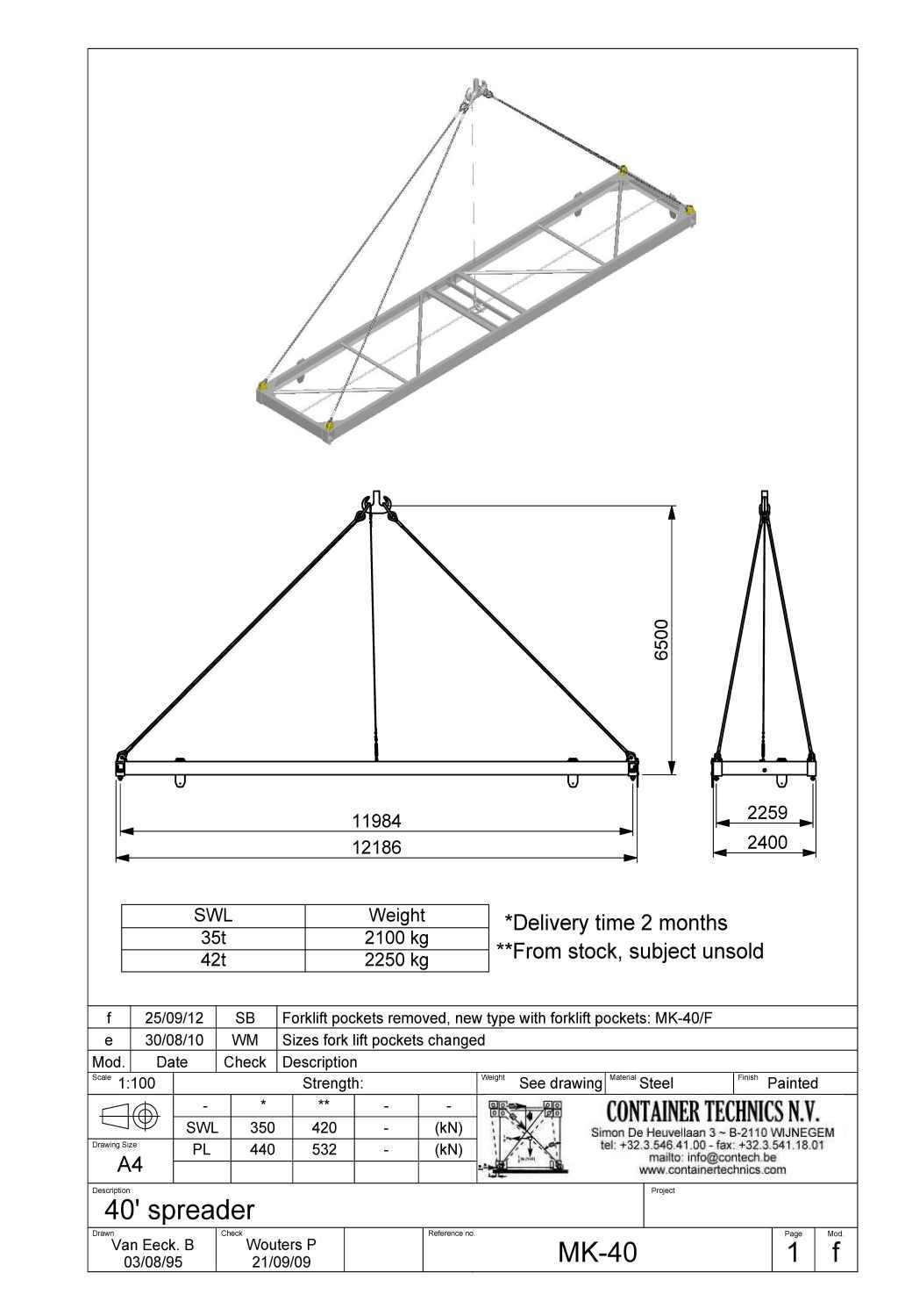 MK-40/42 40ft Container lifting spreader