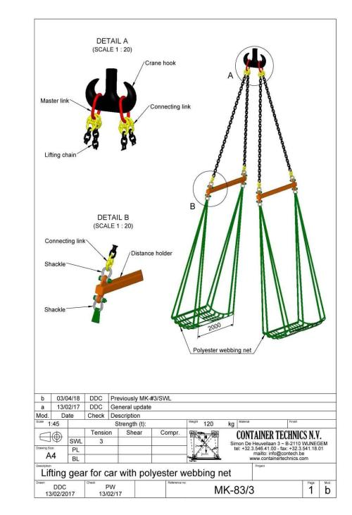 small resolution of mk 83 car lifting gear with polyester net swl 3t