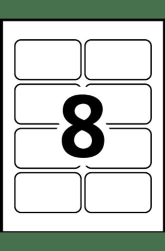 Avery Self Adhesive Name Badges 5395 Template 8 Labels Per Sheet