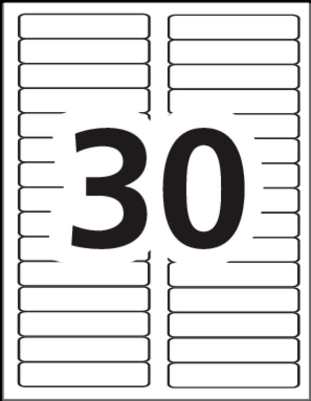 Avery Com Templates 5366 : avery, templates, Avery®, 45366, Eco-Friendly, Folder, Labels, 3-7/16