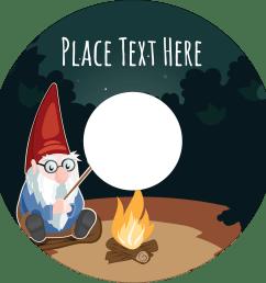 4 65 cd dvd label gnome camping [ 1500 x 1500 Pixel ]