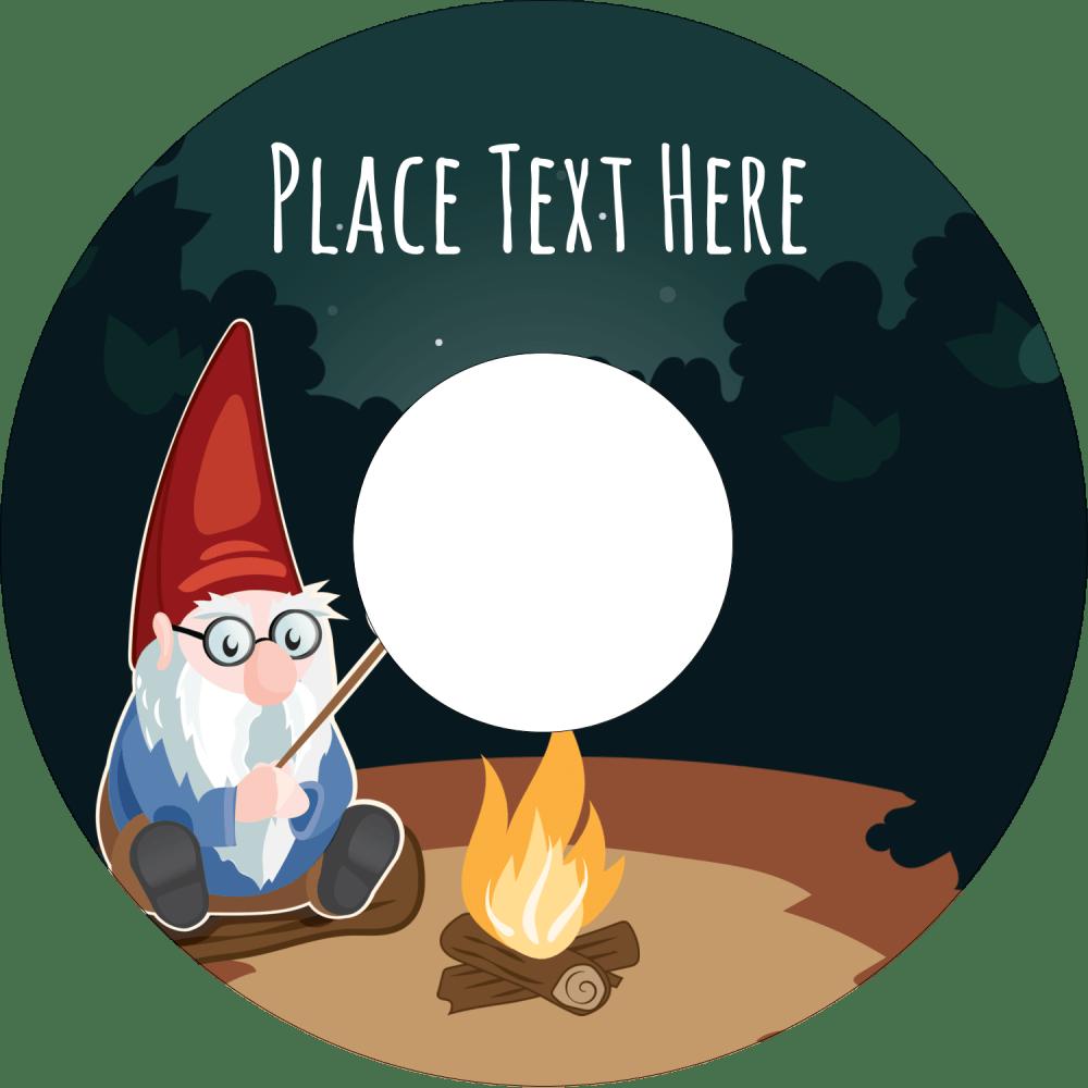 medium resolution of 4 65 cd dvd label gnome camping