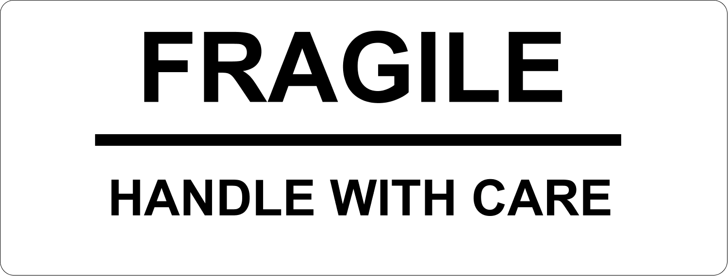 Signs Fragile Handle With Care predesigned template for