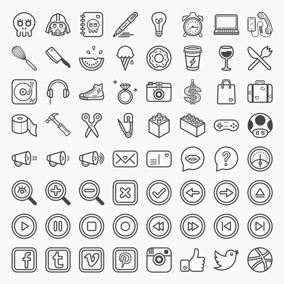 Great Collection of Free Vector Icons and Pictograms for