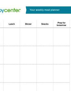 Download our blank weekly meal planner now also printable babycenter india rh