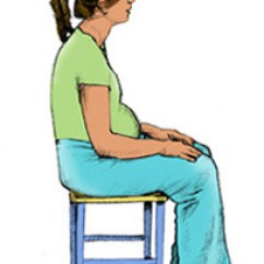 Chair Stand Up Trick Sashes For Wedding How To Sit And In Pregnancy Photos Babycentre Uk Cartoon Image Of Pregnant Woman Slouching On Stool