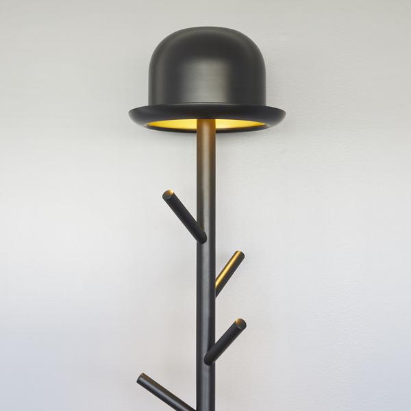 porte manteaux lampadaire chapeau metal 27301