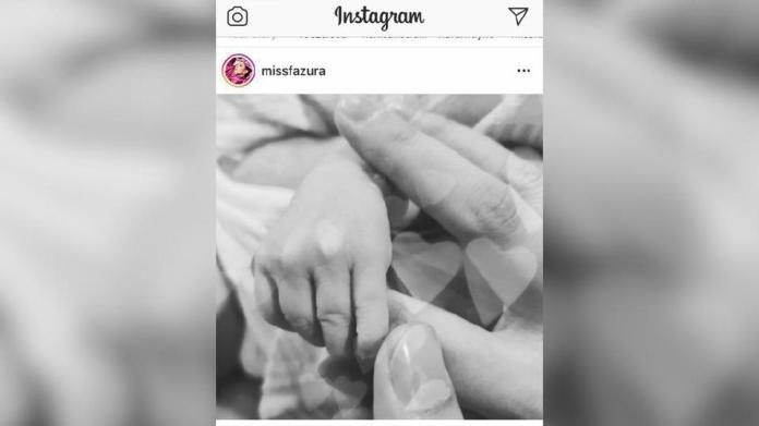 Fazura berkongsi berita gembira kelahiran anak sulung di Instagram, hari ini. Foto IG Nur Fazura