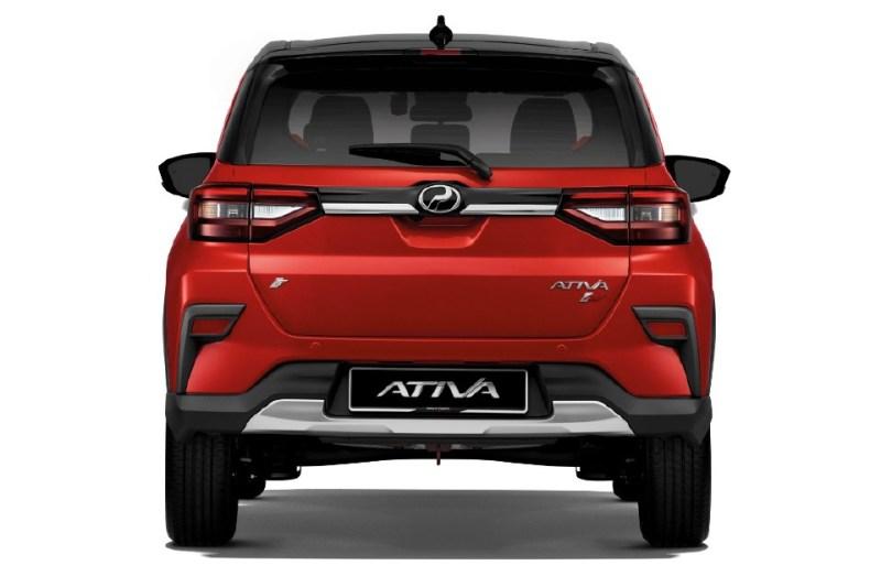 Reka bentuk belakang Perodua Ativa