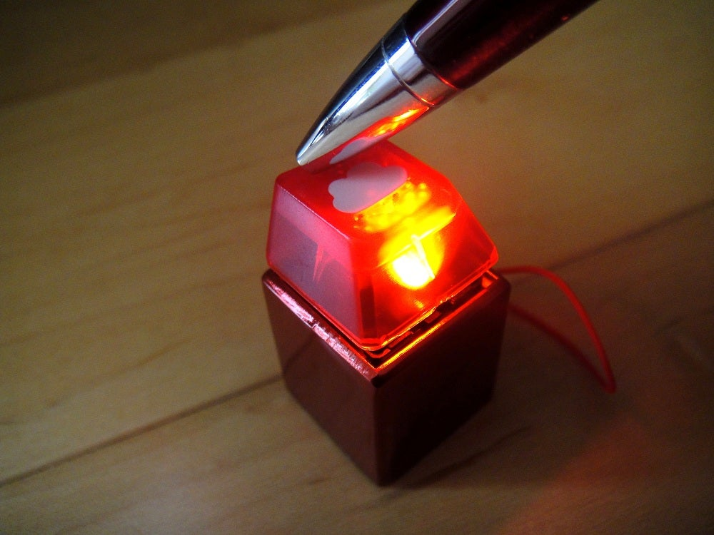 anodized red metal keycap