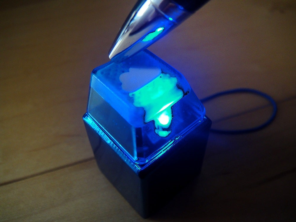 anodized blue metal keycap