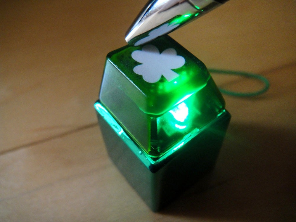 anodized green metal keycap