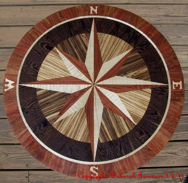 Item No. 144. Nautical Compass Star. / The Marquetry Inlay Company Limited