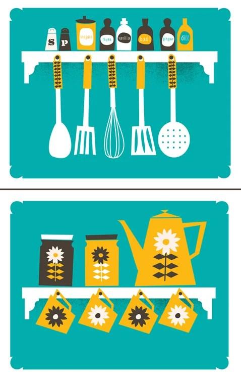kitchen art prints redesigning a strawberryluna print set coffee spice rack image of