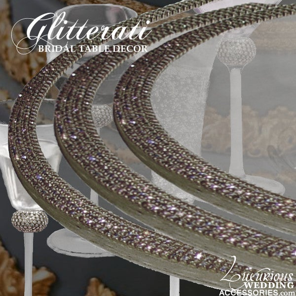 Luxurious Wedding Accessories  Champagne Flutes  Cake Sets  Glitterati Sparkling Crystal