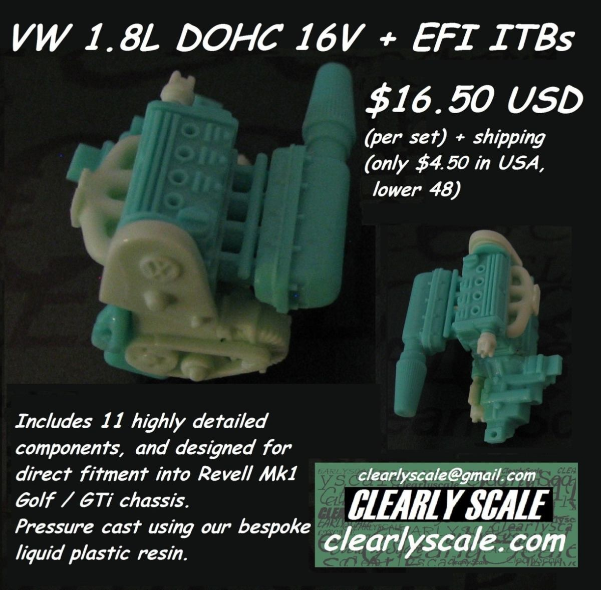 small resolution of vw dohc 16v with efi itb engine set clearly scale custom clearly scale