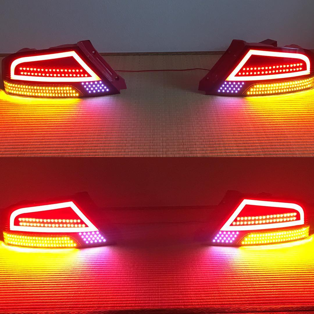 PLUXE  GT Tail Lights Mitsubishi CT9A Lancer Evolution 89