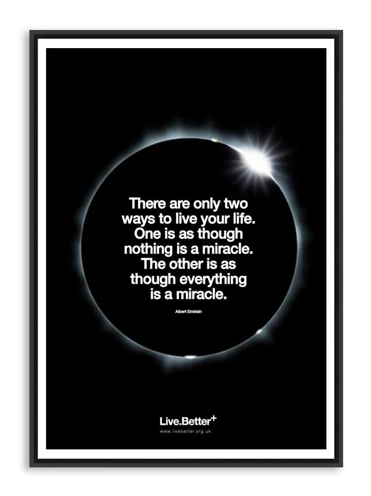Einstein Miracle Quote : einstein, miracle, quote, Live.Better+, Inspiring, Quotes, Albert, Einstein, Quote