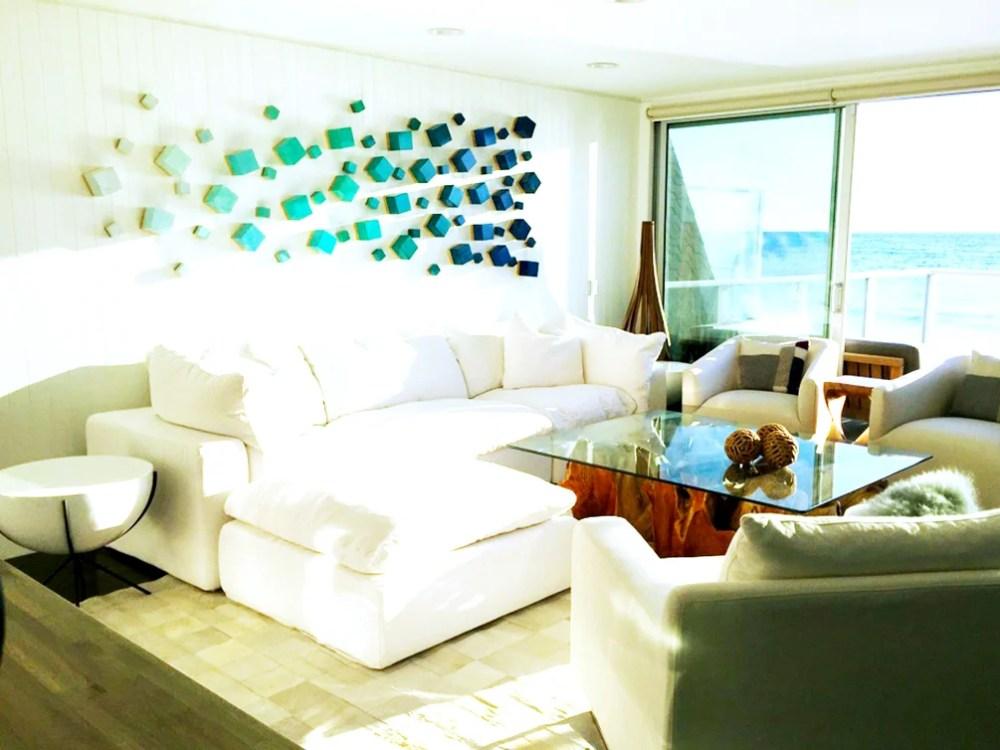 Ocean Breeze Cubed Wood Wall Sculpture Modern Wall