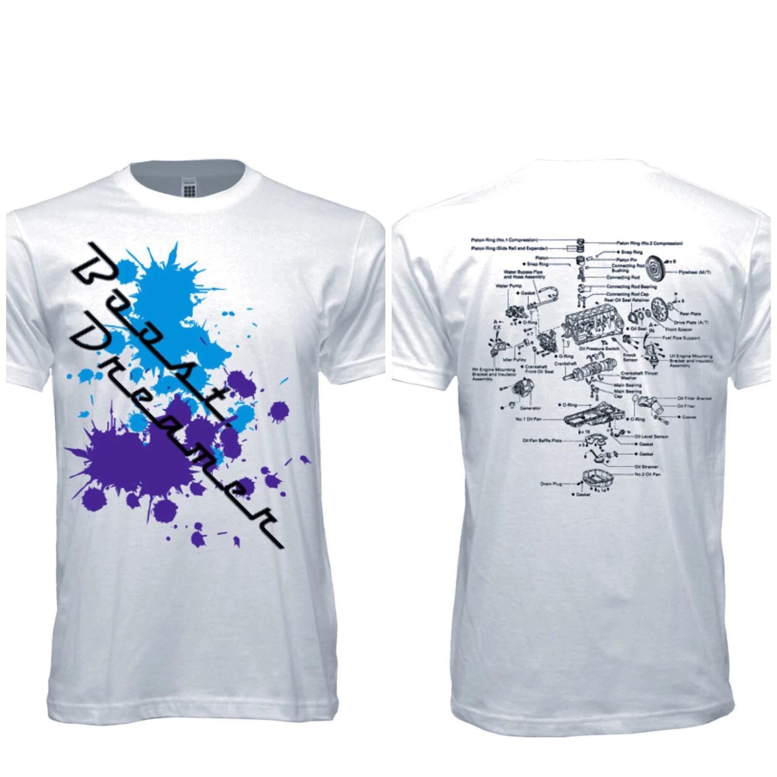 image of boost dreamer 2jz diagram t shirt [ 1600 x 1600 Pixel ]