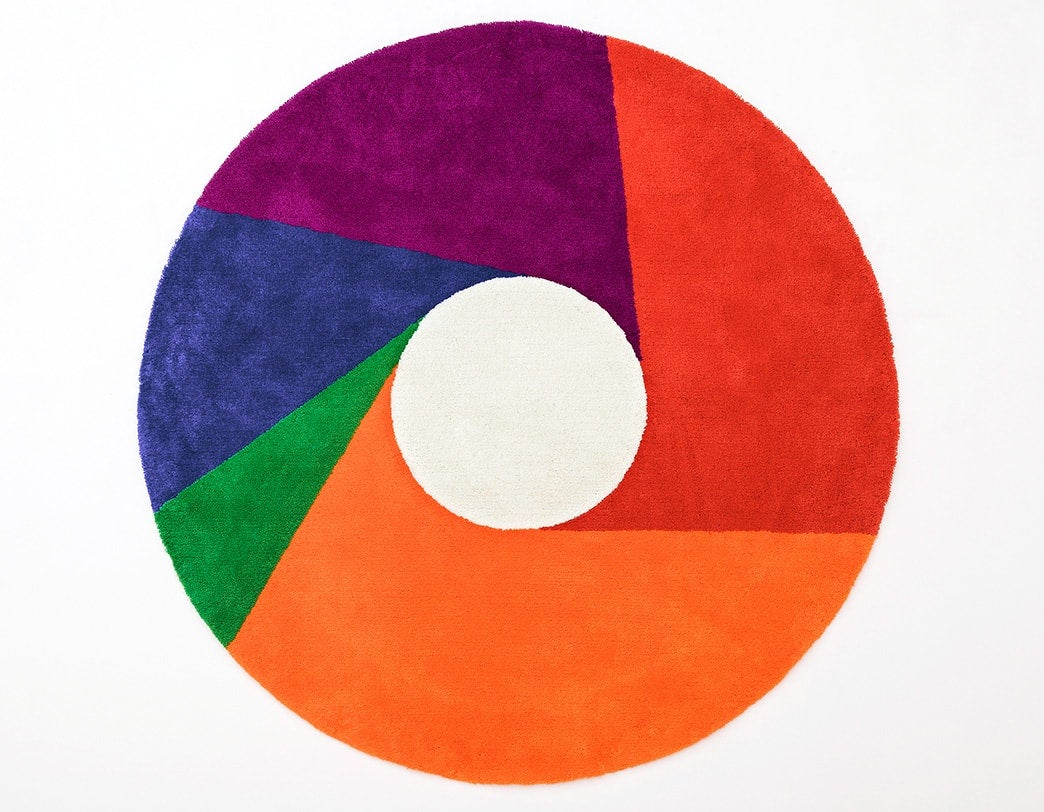 Max Bill Graphic Rug  Color Wheel  Super Normal Objects