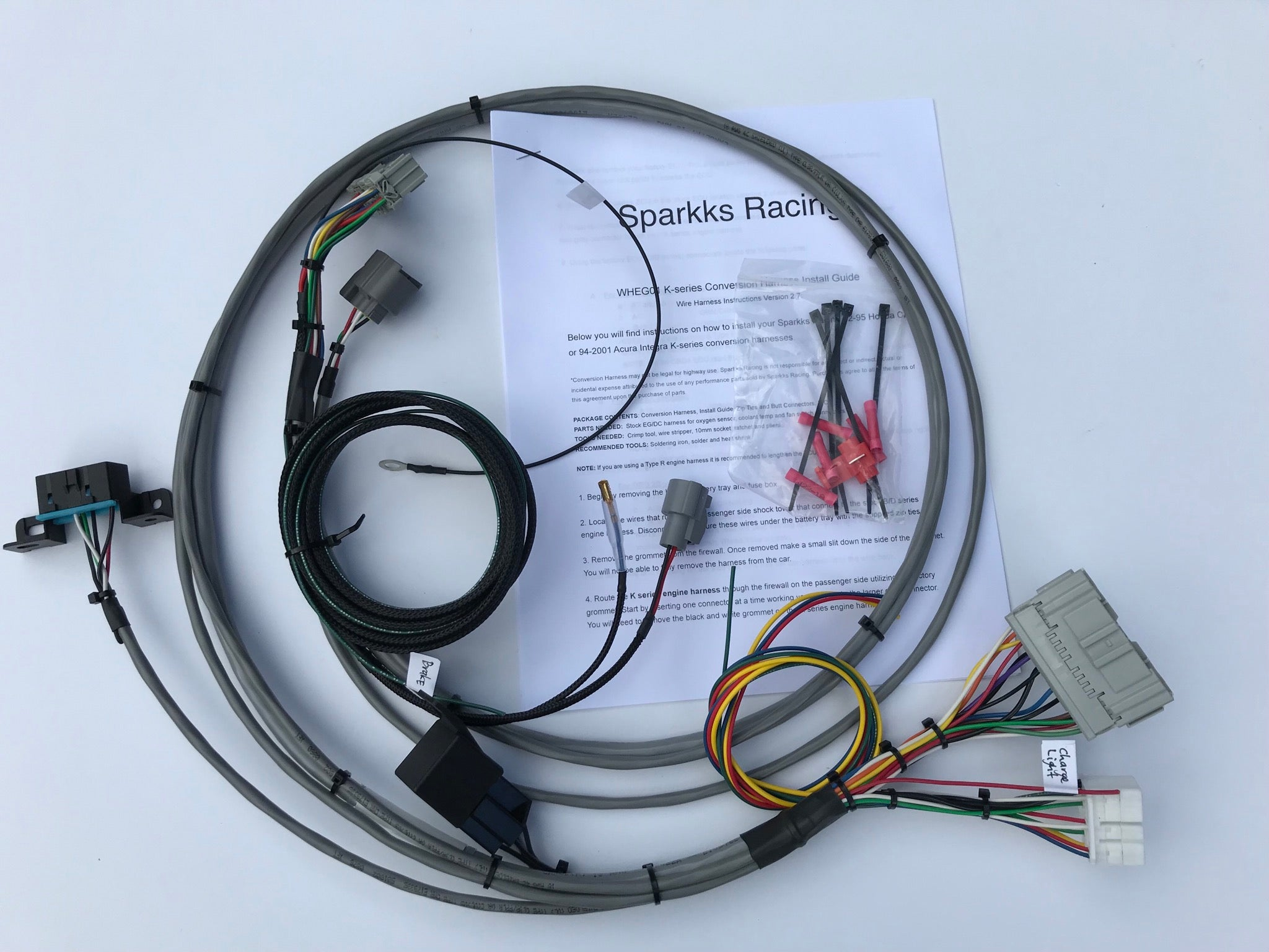 hight resolution of sparkks racing honda kseries conversion harness 92 95 civic or 94image of sparkks racing honda kseries
