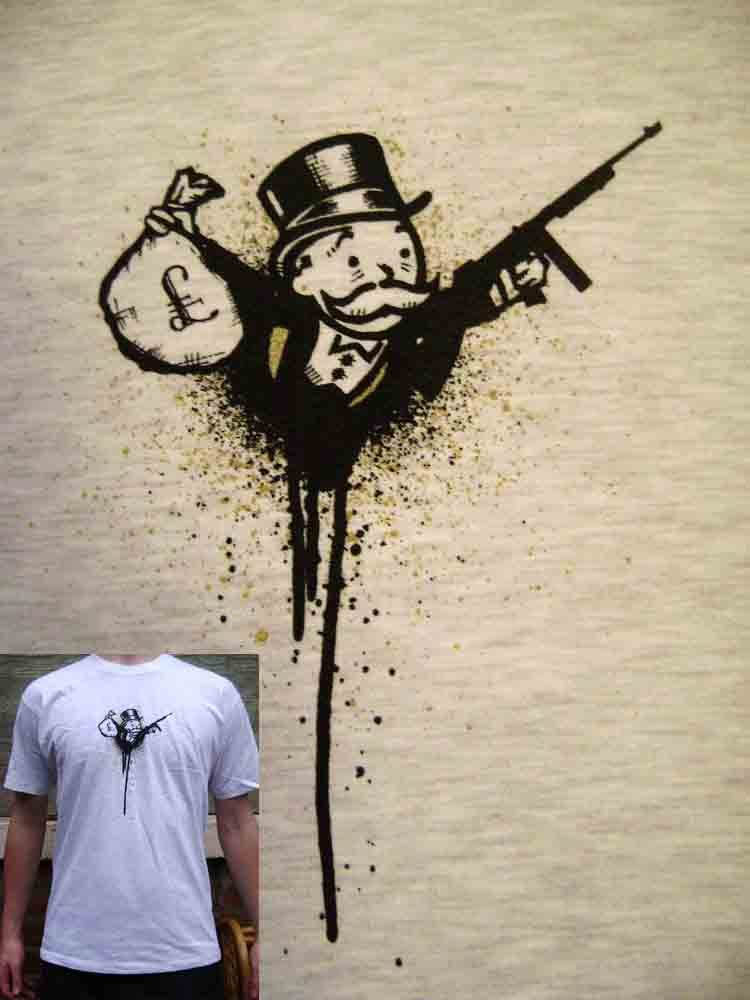 Gangster Monopoly Man Tattoo : gangster, monopoly, tattoo, Gangsta, Monopoly, Drawing