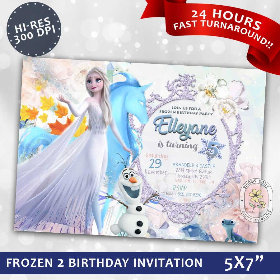 frozen 2 invitation frozen 2 birthday