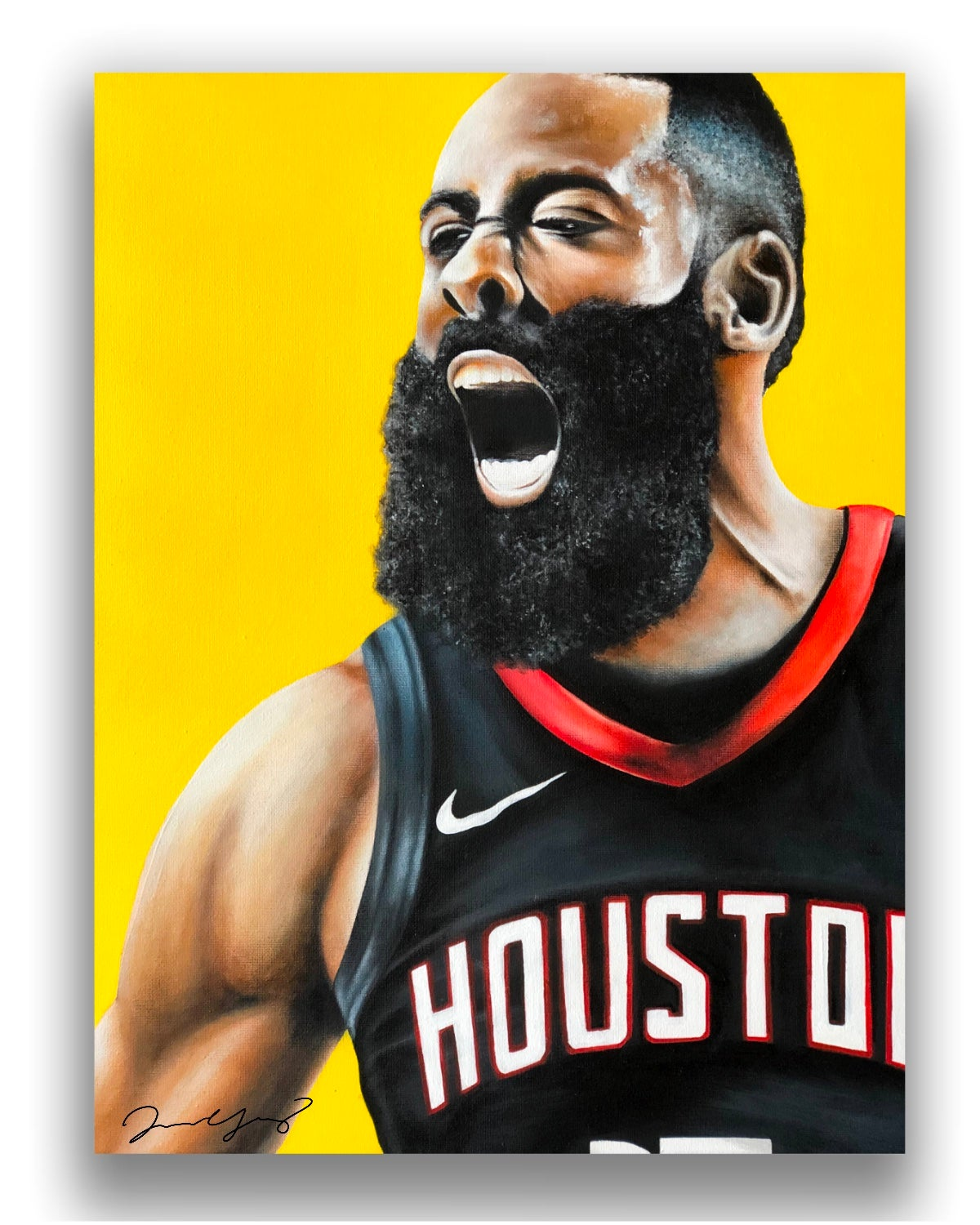 james harden 12x16 a3 poster print original painting by jason