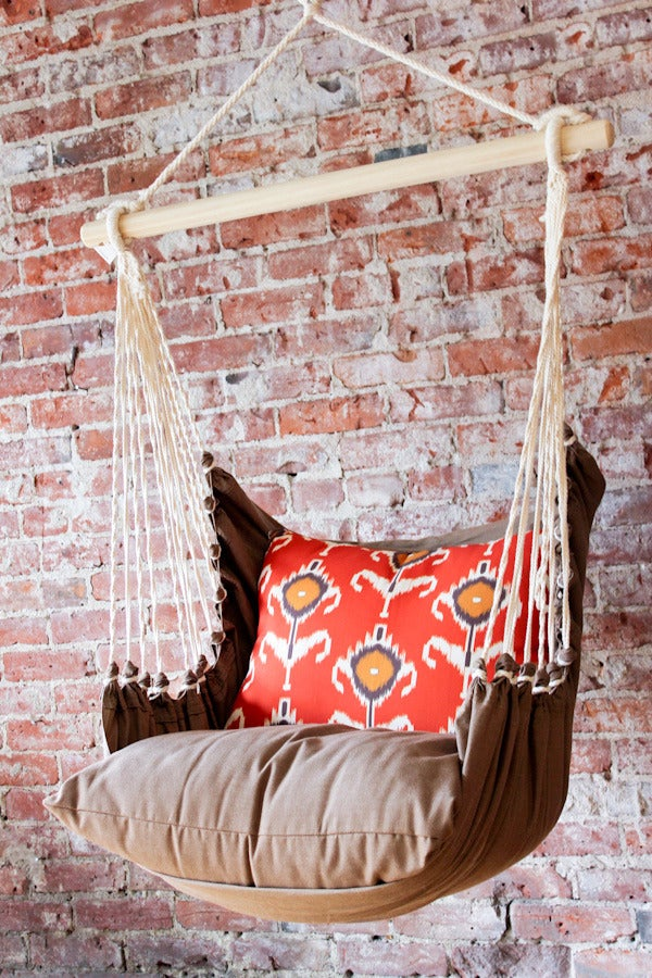 hammock chair instructions leather chairs on sale home ec — swing - orange ikat