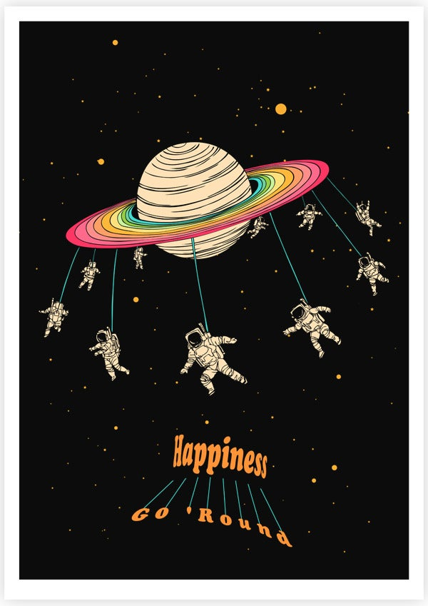 Falling Astronaut Iphone Wallpaper Happiness Go Round Tang Yau Hoong