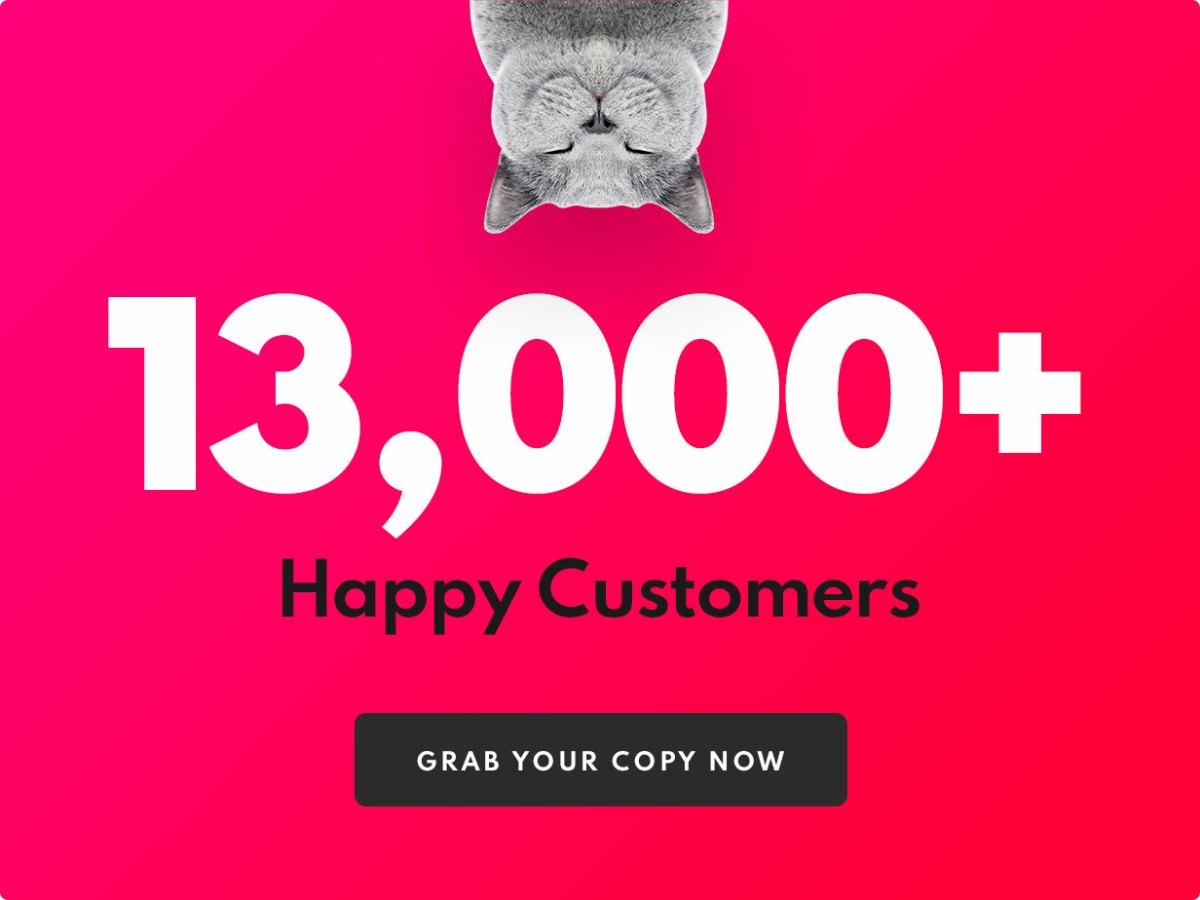 Over 13,000 sales