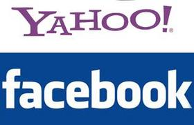 Yahoo and Facebook logos