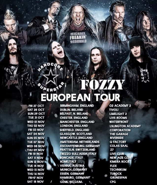 Image result for fozzy hardcore superstar tour