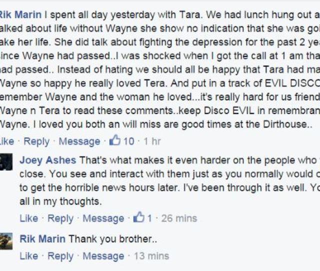 Very Sad Day Today Wayne Statics Widow Former Pornstar Tera Wray Static Found Dead Https T Co Xi5ebz1uko She Was A Friend A Client