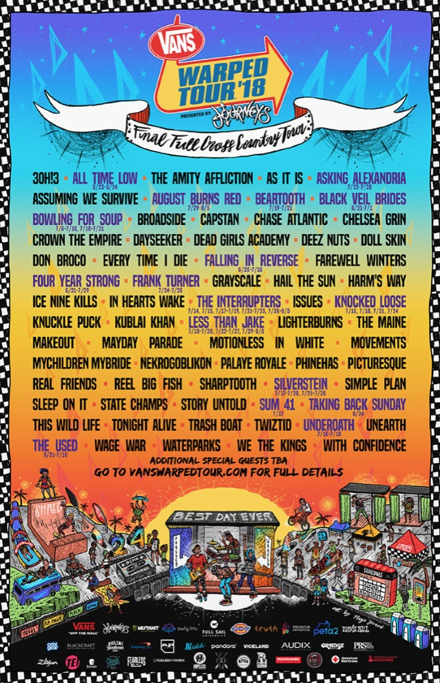 Image Result For Warped Tour Lineup