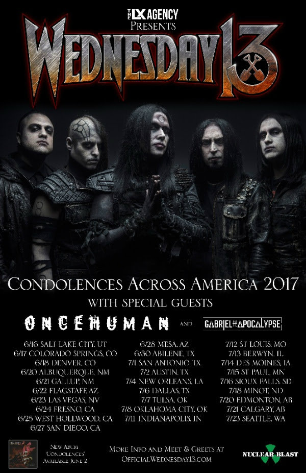 wednesday13ussummertour2017