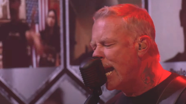 Watch METALLICA Play Reimagined Version Of 'Disposable Heroes' During 'Live & Acoustic From HQ: Helping Hands Concert & Auction'