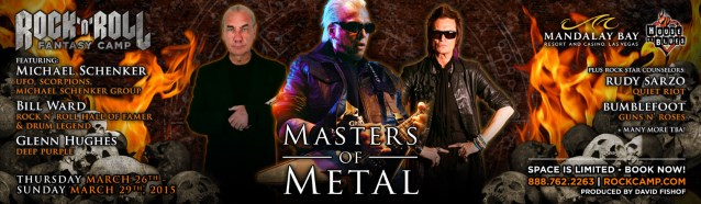 BILL WARD, MICHAEL SCHENKER, GLENN HUGHES To Take Part In 'Masters Of Metal' Camp