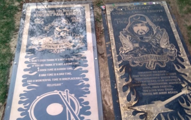 VINNIE PAUL's Grave Marker Now Comes With Protective Cover (Photo)