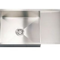 Kitchen Sinks With Drain Boards Renovation Cost Calculator 915 Mm X 500 Enrica S Single Bowl Sink Board Hafele Argento