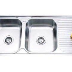 Kitchen Sinks With Drain Boards Utensil 1200 Mm X 500 Laura Double Bowl Sink Board Satin 567 20