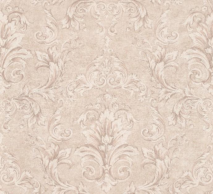Versace Ii Classic Damask Wall Paper Beige Metallic 962152
