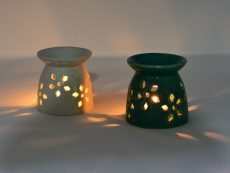 Ceramic Oil Diffuser Fragrance Lamps (Set of 2)